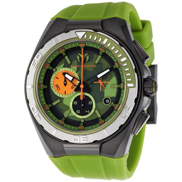 TechnoMarine Cruise Chronograph Green Camouflage Dial Mens Watch 110070