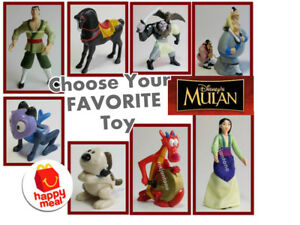 LOOSE-McDonald-039-s-1998-MULAN-Disney-CHINESE-WARRIOR-Girl-KHAN-Horse-PICK-TOY