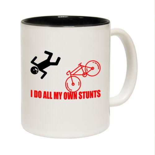 Funny MUGS-I Do My Own Cascades Bicycle-Joke Birthday Poison Pun Novelty Mug