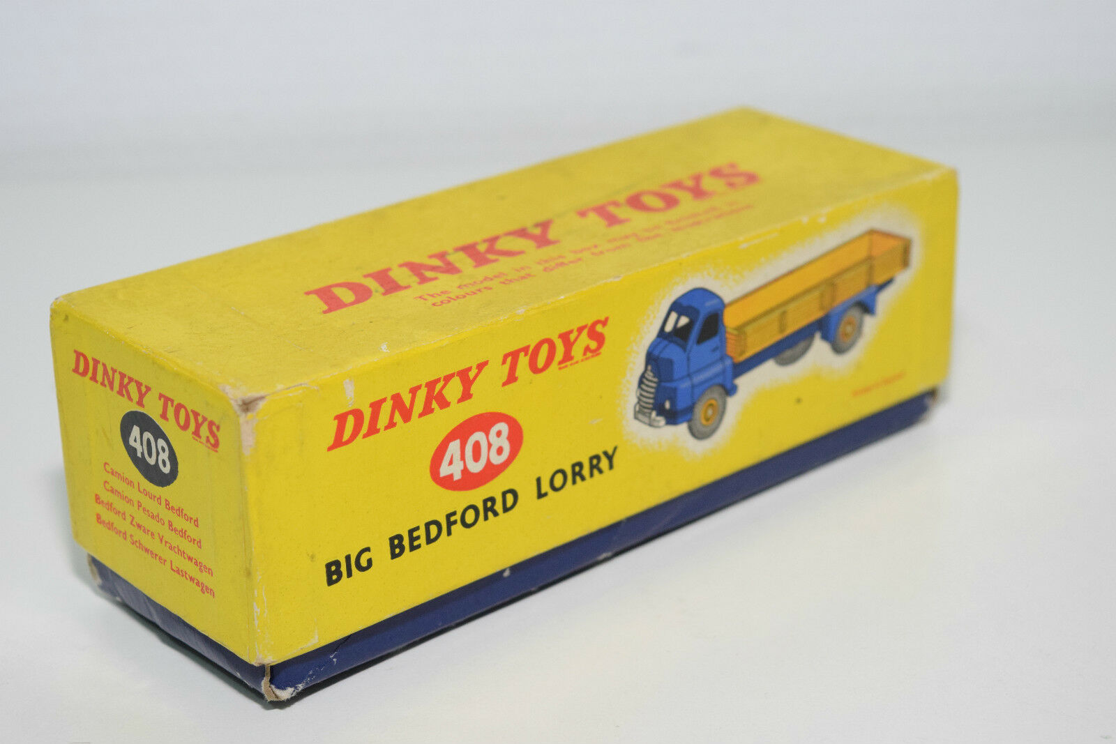 DINKY TOYS 408 408 408 BIG BEDFORD LORRY ORIGINAL EMPTY BOX EXCELLENT CONDITION a8e0a8