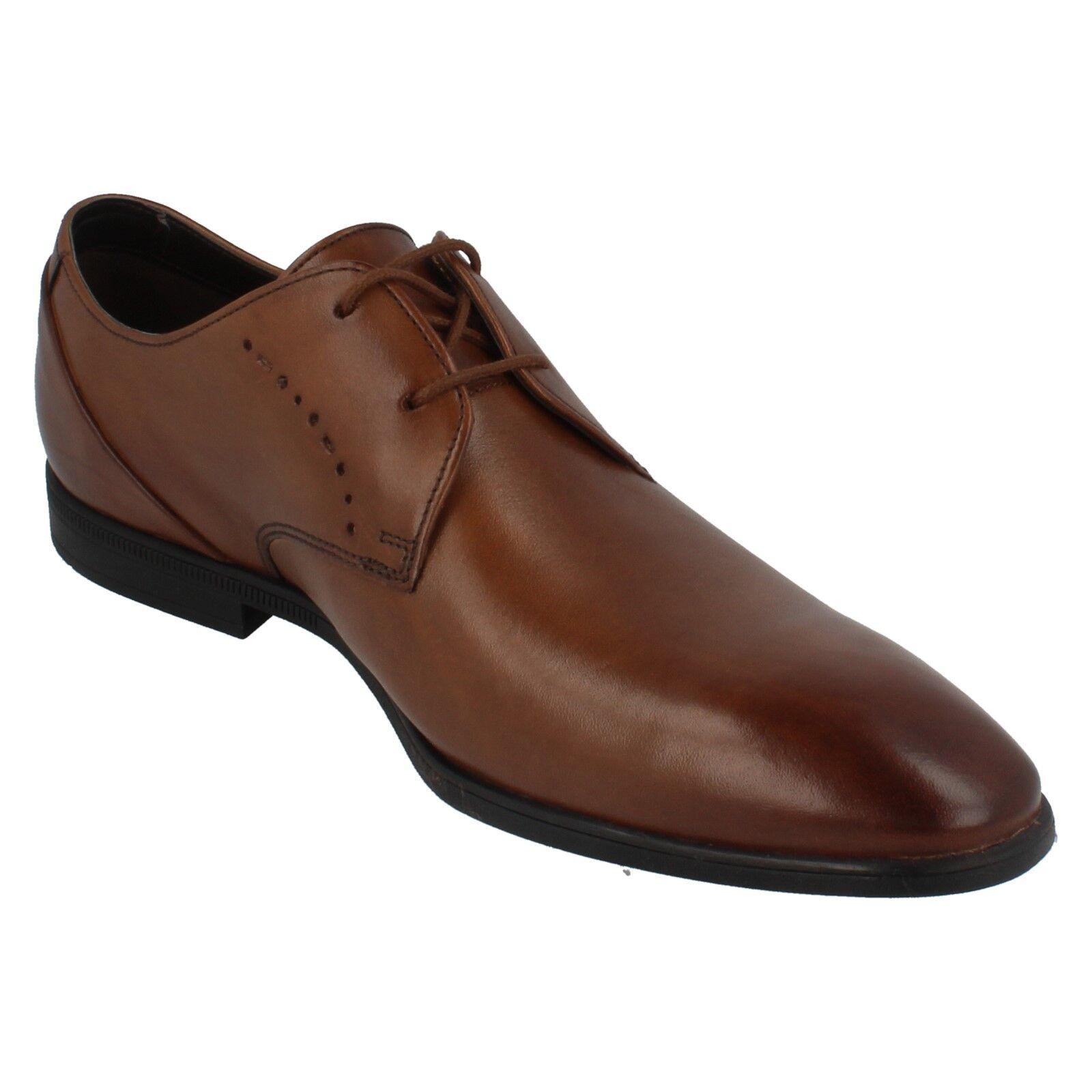 Uomo Pointed Clarks Leder Lace Up Pointed Uomo Schuhes BAMPTON LACE 091fb9