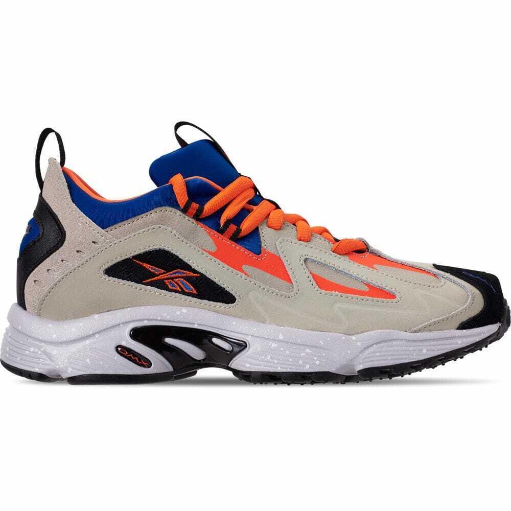 Para Hombres Zapatos informales Reebok DMX 1200 Pergamino Azul Real gris blancoo Lava DV7633 PAR