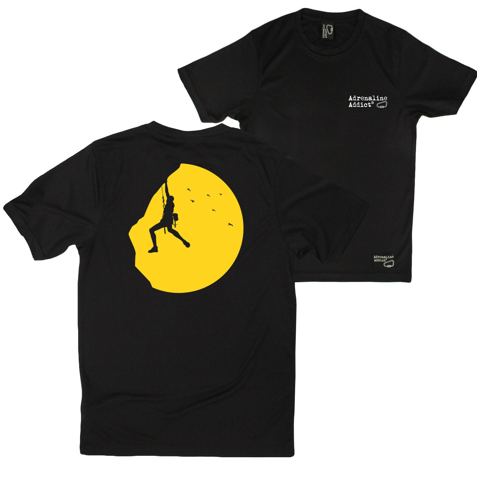 FB Rock Climbing Tee - Sunset Climber - Novelty Dry Fit Performance T-Shirt