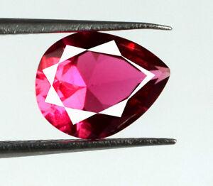 2-15-Ct-Burma-Ruby-Loose-Gemstone-Pear-Cut-100-Natural-9-x-7-mm-AGSL-Certified