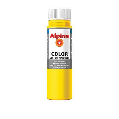 Alpina Color Sunny Yellow matt 750ml Gelb Farbe Wandfarbe Abtönfarbe