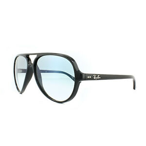59ecf8c314c Ray-Ban Sunglasses Cats 5000 4125 601 3F Black Light Blue Gradient ...