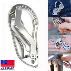 Quickdraw-Carabiner-Clip-EDC-KEYCHAIN-Outdoor-Belt-Key-Holder-Organizer-Tool-NEW
