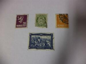 Collection-of-4-Vintage-Norway-1917-1925-Postage-Stamps-Make-an-Offer