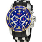 Invicta Men's Pro Diver Chronograph Watch (Blue)