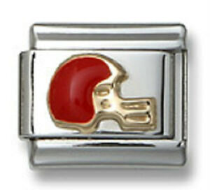 Football-Helmet-Italian-Charm-Enamel-Fit-9-mm-Stainless-Steel-Link-Bracelet-18K