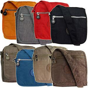 Damen Umhängetasche leichte Nylon Schultertasche Bag Street Handtasche ~ schwarz