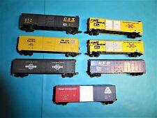 LIFE-LIKE ohne Box: 7x US Güterwagen für Spur N