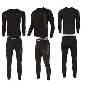 Thermal-underwear-set-Men-Winter-Long-Johns-Sweat-fleece-quick-drying-Warm-Sport
