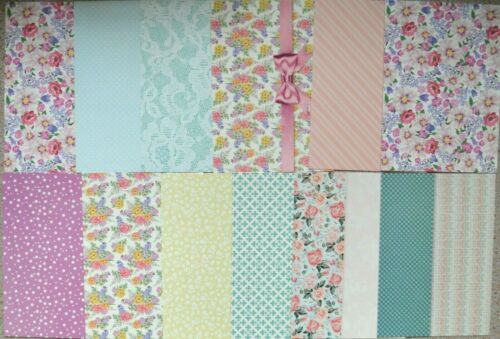 12 x A6 Kanban Assorted Patterned Card Pastels//Double Sided Spots//Assorted  NEW