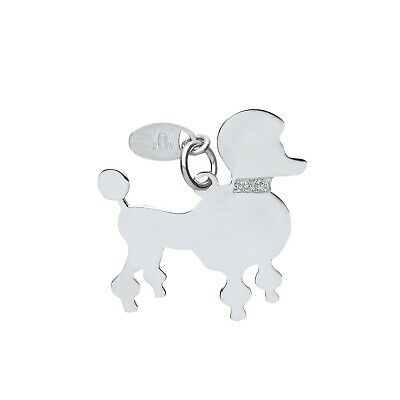 "Silver Poodle Dog Pendant Solid Silver 925 Hallmark Pet Jewellery 14-30"" Chain"