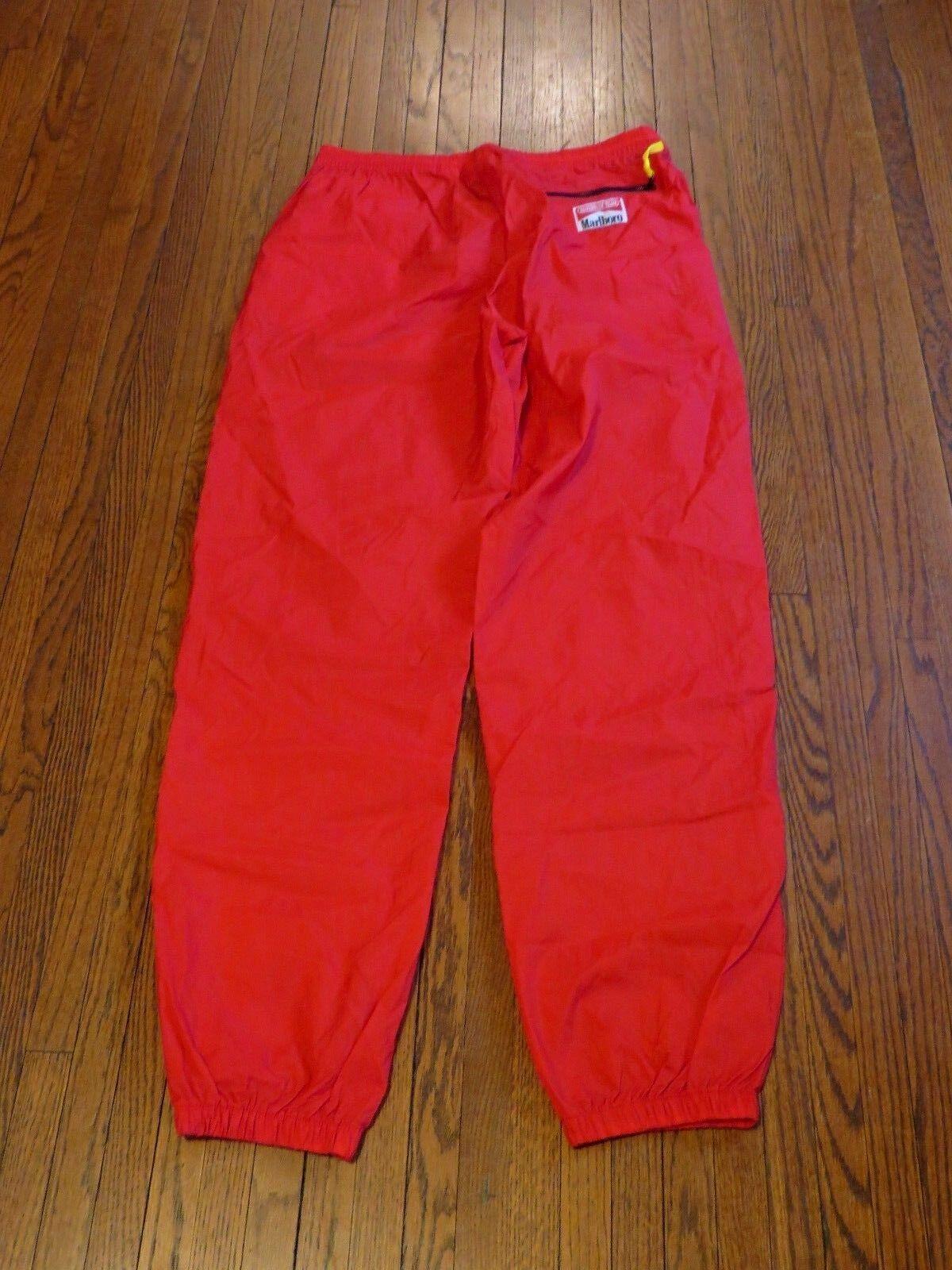 Men's VTG 80's 90's Marlbgold Red Windbreaker Pants sz L