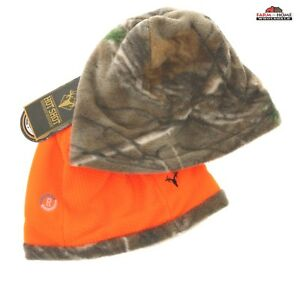 (2) Hot Shot Men's Reversible Hunting Camo Beanie / Blaze Orange ~ New