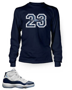 Tee-Shirt-To-Match-AIR-JORDAN-11-Win-Like-82-Long-Sleeve-Pro-Club-Graphic-Tee