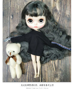 12-034-Neo-Blythe-Doll-From-Factory-Gray-Hair-With-Make-up-Eyebrow-Sleeping-Eyes