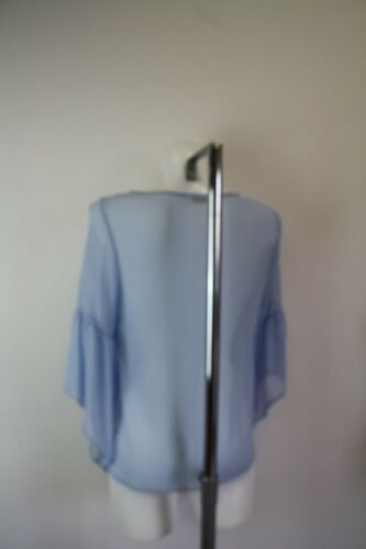 Ladies new ex george asda blue sheer blouse size 8 10 12 14 16 20 22 24