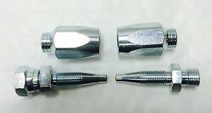 Lavadora a presión Jet Wash Reutilizables Kit de reparación de la manguera de 1//4 R1AT y 1SN X 1//4 Macho