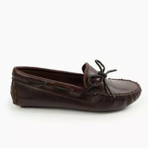 MINNETONKA-698-Smooth-Leather-Driving-Moccasins-Dark-Brown-Lariat-Size-8M-NEW