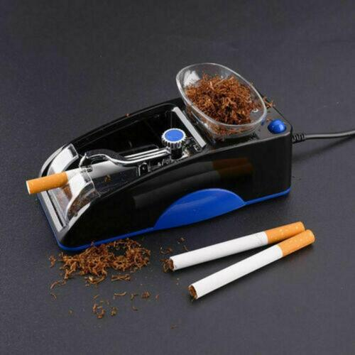 US Plug Convenience Electric Smoker Automatic Maker Roller Making Wrapping Blue