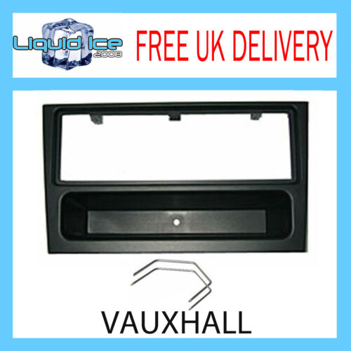 OPEL VECTRA VIVARO 2002-2005 BLACK SINGLE DIN FASCIA FASCIA ADAPTOR PANEL