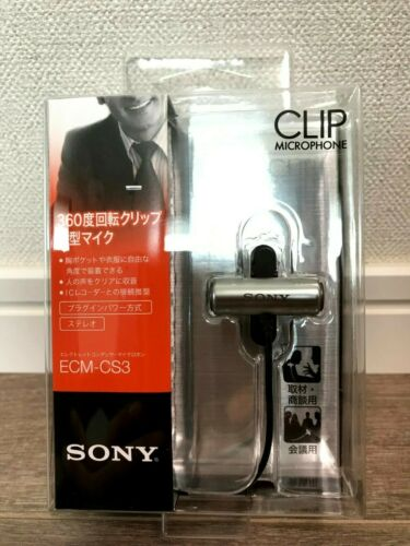 Sony ECMCS3 Clip style Omnidirectional Stereo Microphone 10 PACK