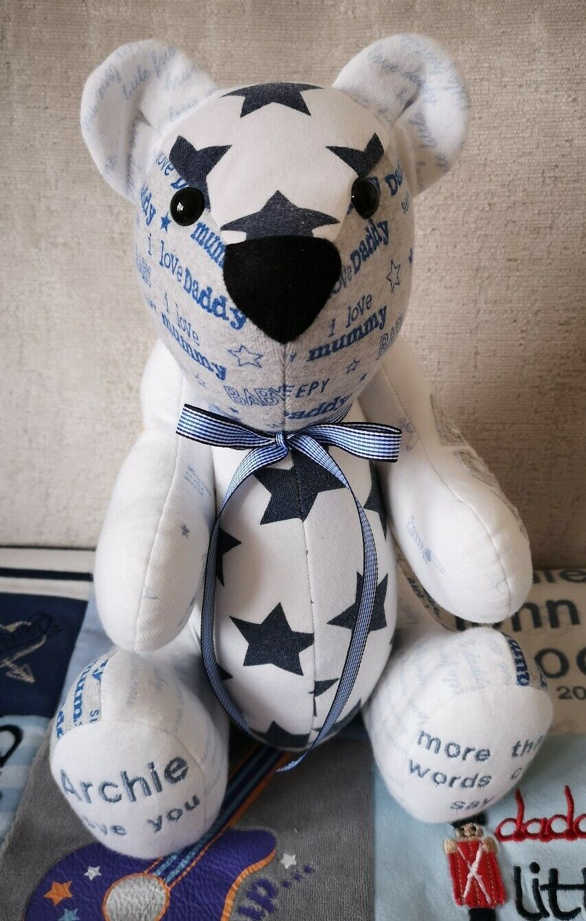 Memory Bear keepsake teddy from Baby cMassehes Baby grows