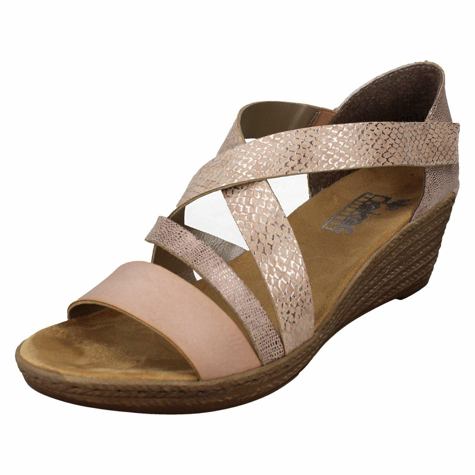 V5373 Ladies Rieker Summer Toe Post Sandals