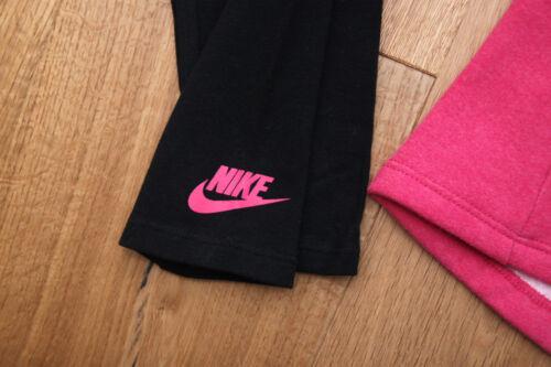 Nike Toddler Girl Sweatshirt /& Legging Set ~ Pink Black /& Gray ~
