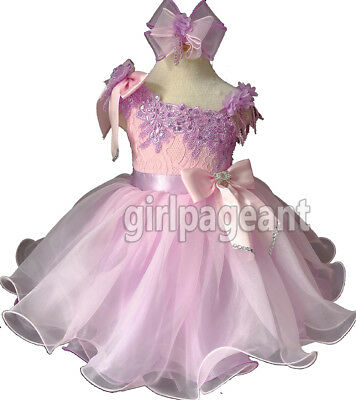 Infant//toddler//kids//baby Girl/'s Lilac Sequins lace Pageant Dress 2T EB1217-2