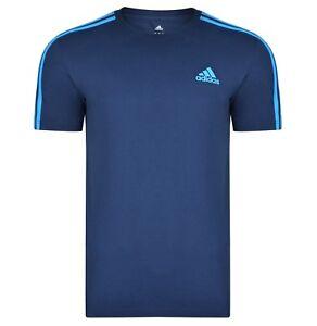 New-Men-039-s-Adidas-Essentials-Cotton-T-Shirt-Top-Navy-Blue