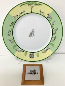 Hermes-Africa-Vert-Assiette-Plate-Hermes-Africa-Vert-Guepard-Hermes-003203