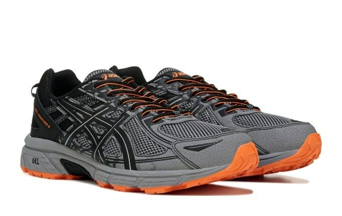 NIB Men's Asics GEL-VENTURE 6 RUNNING  shoes Med& 4E WIDE GreyOrg Sonoma Scram