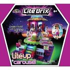 Lite Brix Sunset Island Mall Carousel With Lights and Music for Age 6