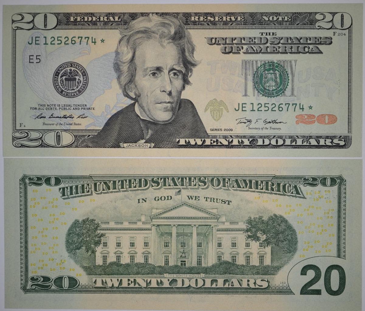 JE BLOCK *STAR NOTE GEM UNC RICHMOND FRN USA $20 SERIES 2009