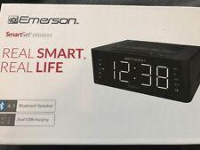Emerson SmartSet Alarm Clock Radio with Bluetooth Speaker Charging Station