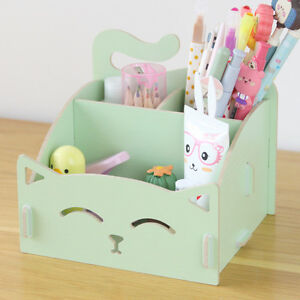 decorative office supplies. Image Is Loading Cute-Cat-Storage-Box-Desk-Organizer-Office-Wooden- Decorative Office Supplies