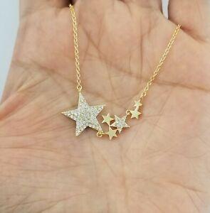 14K-Yellow-Gold-Diamond-Star-Pendant-Necklace