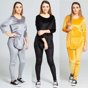 JUSTYOUROUTFIT-Womens-Velvet-Look-Loungewear-Set-TS2258