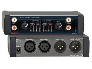Balanced To Unbalanced Converter : rdl ez afc2 stereo balanced to unbalanced audio format converter 813721010032 ebay ~ Vivirlamusica.com Haus und Dekorationen