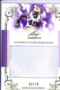 Details about barkevious mingo rookie rc draft jersey patch browns lsu tigers college #/10 13