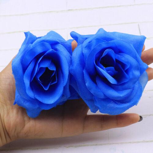 Large-15 Color-8cm-12//22Pcs-Artificial Silk Big Rose Flower Heads-Bulk-DIY Craft