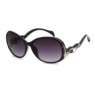 Black RE59POL New Oversized Rhinestones Women Fashion Polarized Len Sunglasses