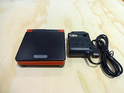 Nintendo Game Boy Advance GBA SP System AGS 101 Brighter Black + Red MINT NEW