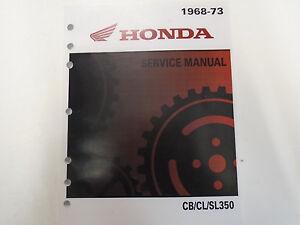 1968-1969-1970-1971-1972-1973-CB350-CL350-SL350-Servicio-Tienda-Reparar-Manual