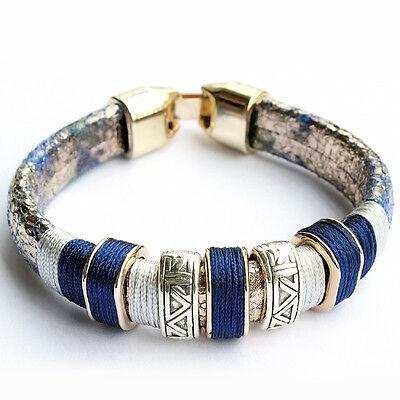 Newest Fashion Jewelry Tibetan 925 Silver Plated Women Party Bracelet Bangle