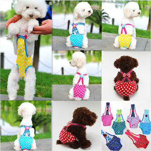 Dog Puppy Diaper Sanitary Pants Female Shorts Cotton Cloth Small Medium Pet NEW